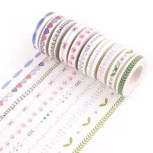 Vintage Decorative Adhesive Tape DIY Scrapbooking Colorful Decoration for Photo Album Shredded Washi