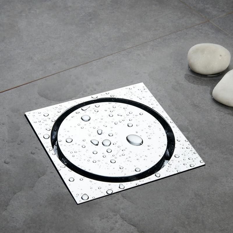 все цены на Quality assurance Solid brass 4 inch 100*100mm chrome floor drain Shower Room Deodorant floor drain онлайн
