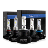 2PCS H4 Led Bulbs All In One Auto Car Headlight High Low Beam 50W 8000LM 12V