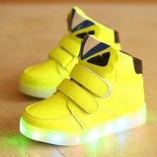 2017 Moda Europeia Colorido Iluminado crianças casuais das sapatilhas de alta qualidade fresco botas de venda quente das meninas dos meninos do bebê sapatos de bebê