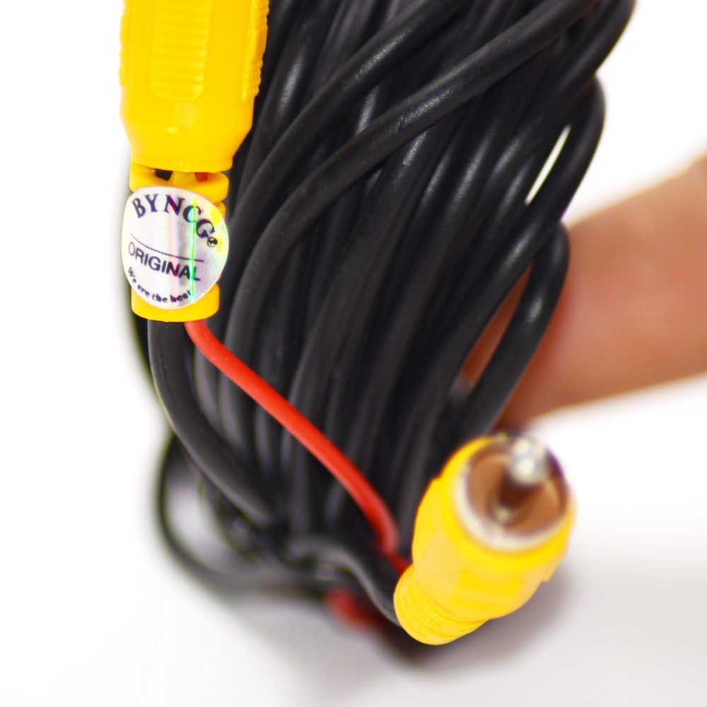 2018 nuevo Universal de cable RCA AV cable arnés para Vista trasera de coche CÁMARA DE APARCAMIENTO 6m cable de extensión de video
