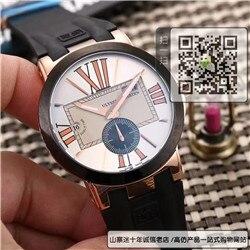 精仿雅典表经理人系列男表 精仿243-00/421橡胶带手表☼