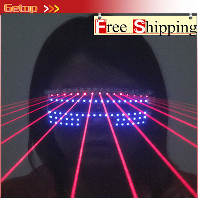 ZX Event Party Supplies 532nm 80mw Red Laser Flashing Glasses Nightclub Glasses DJ Laser Show LED Glasses Free Shipping