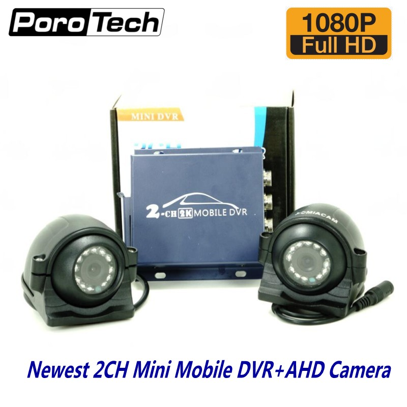 2ch Mobile DVR Kits for car bus vehicle with 2pcs 1080P AHD Cameras Real-time 2 Channel dual-SD DVR support CVBS/AHD 5.0MP2ch Mobile DVR Kits for car bus vehicle with 2pcs 1080P AHD Cameras Real-time 2 Channel dual-SD DVR support CVBS/AHD 5.0MP
