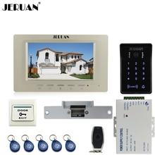 JERUAN 7 »видео-телефон двери домофон Комплект RFID водонепроницаемый сенсорная клавиша пароль клавиатуры доступ камера + мощность + пульт дистанционного управления