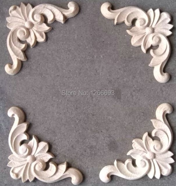 Charming European Carve Patterns Or Designs On Woodwork Piece Of Solid Wood Decals  Furniture Cabinet Decorative Flowers