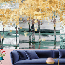 Abstract style wall hanging Tapestries Oil painting mechanism forest personality  Hanging Home Decor