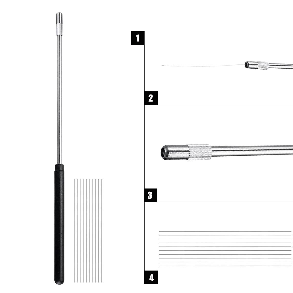 220mm Inoculating Rod+10 Inoculating Ring 70mm Microbiology Inoculation Inoculating Rod Handle Loop With 10 Nichrome Wire Needle