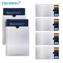6 Pack RFID Blocking Sleeves Anti Theft RFID Card Protector RFID Blocking Sleeve Identity 4 Credit Card 2 Passport Wallet Pocket(China)