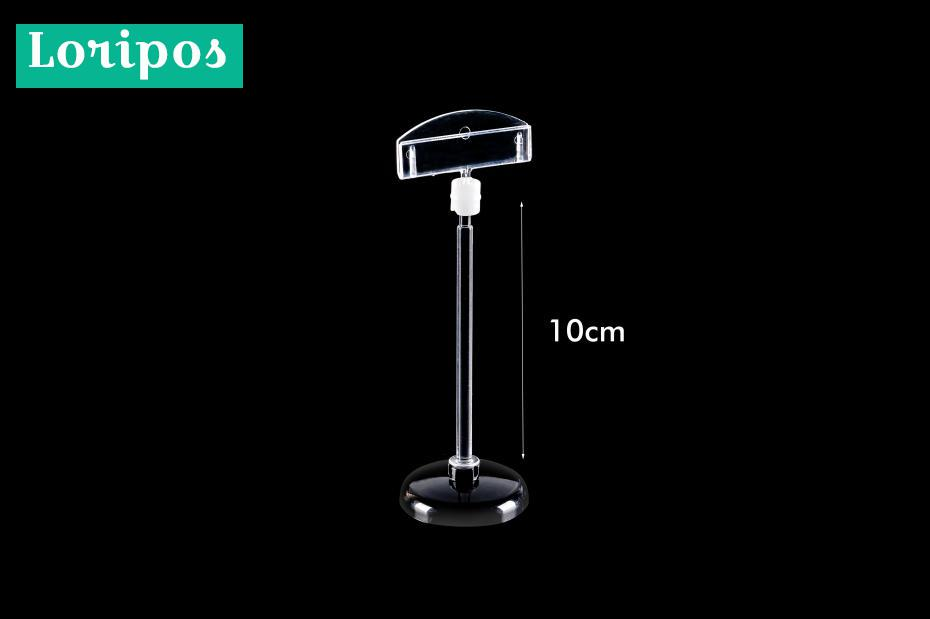 Clear Plastic Pc Rotatable Pop Table Sign Clip Paper Card Holder Stand Price Tag Display Desk Sign Tag Label Holder Clips 20pcs