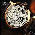 YAZOLE NOVA Mens Relógios de Ouro Esqueleto Homens Relógio de Quartzo Relógios De Pulso Luminoso Relógio Masculino Relógio de Pulso De Quartzo-relógio erkek kol saati