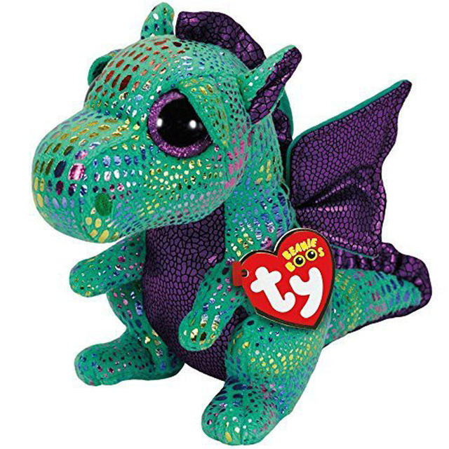 Pyooppeo Ty Beanie Boos 10 25cm Cinder The Green Dragon Plush
