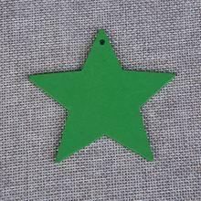Набор из 50 шт лазерная резка samll зеленая звезда форма diy