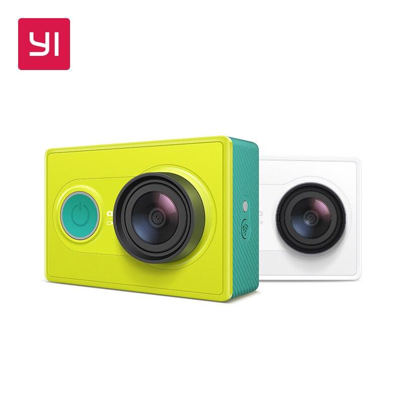 YI Action Камера 1080 P зеленый лайм Белый Черный 16MP Full HD 155 градусов ультра-широкоугольный Спорт Мини камера