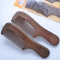 Natural Peines de madera de Sándalo Masaje cepillo de pelo cepillo de Dientes Anchos No-estática Cepillo de Pelo Salud Peine De Madera de mango largo peine