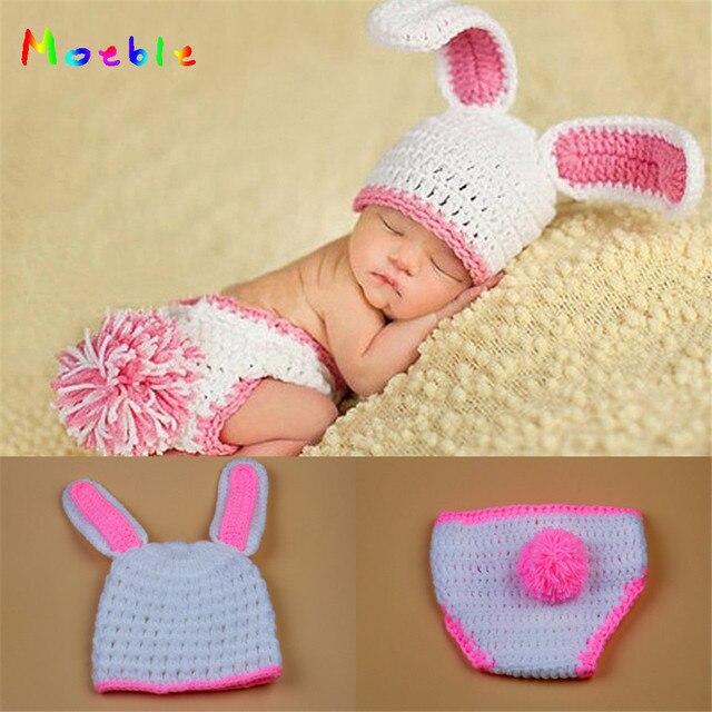 Ostern Kaninchen Neugeborenen Häkeln Outfits Gestrickte Baby Mädchen