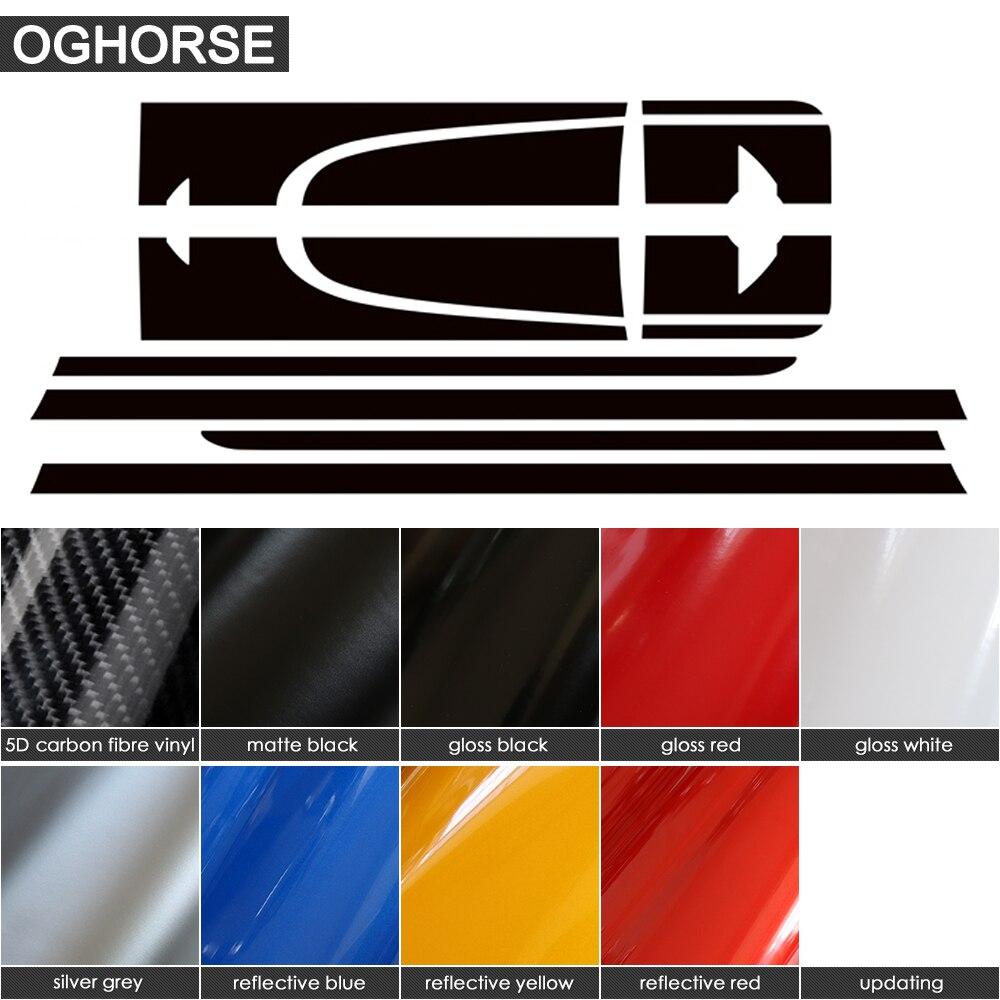 Car Styling Side Racing Stripes Hood Rear Engine Cover Trunk Body Kit - Ավտոմեքենայի արտաքին պարագաներ - Լուսանկար 2