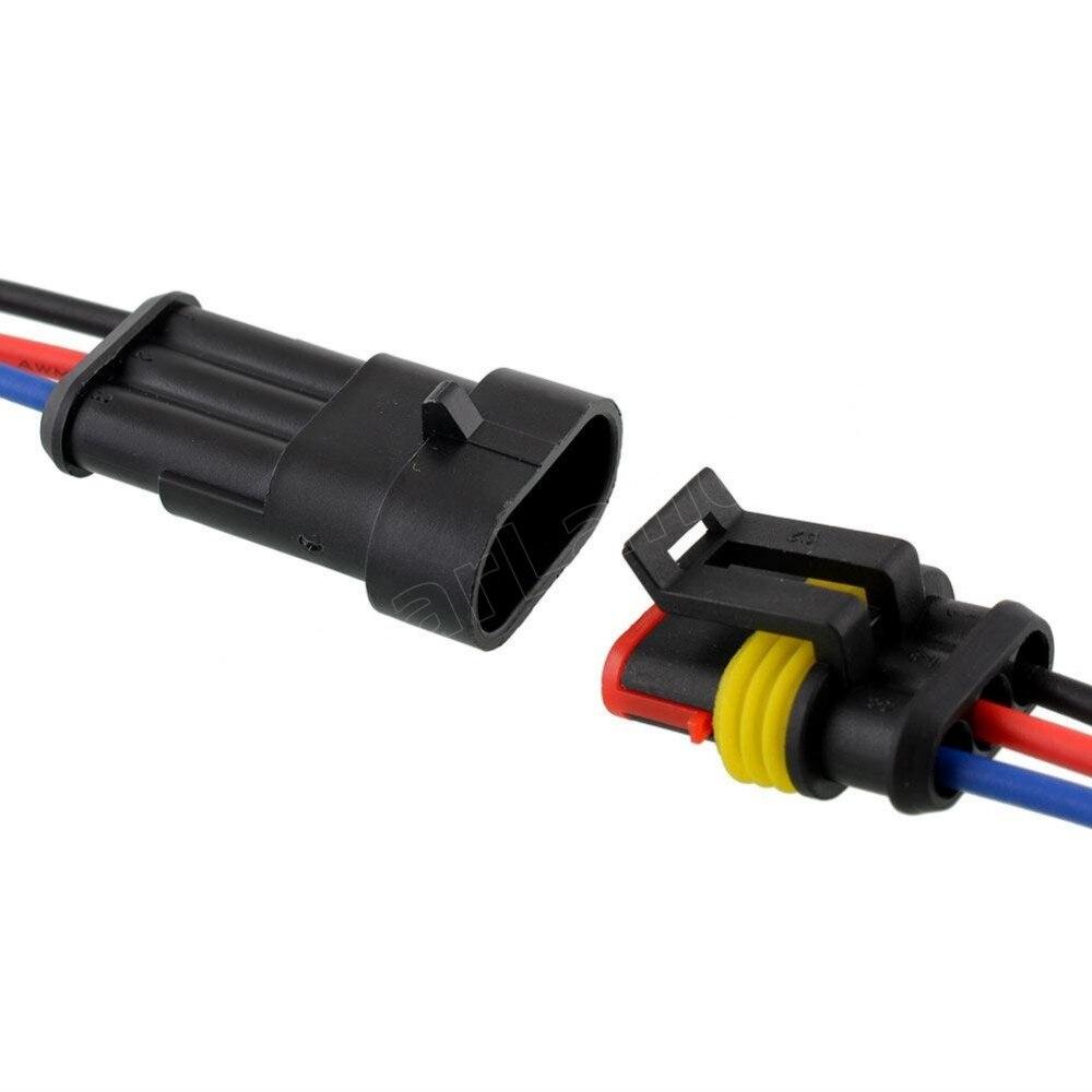 Hot 5 sätze 3 P auto wasserdichte automotive Kabelverbinder Stecker ...