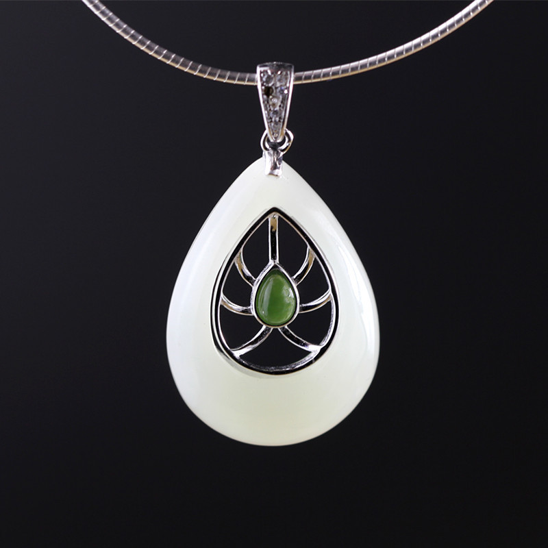 S925 sterling silver jewelry fashion pure handmade water drops pendant цена
