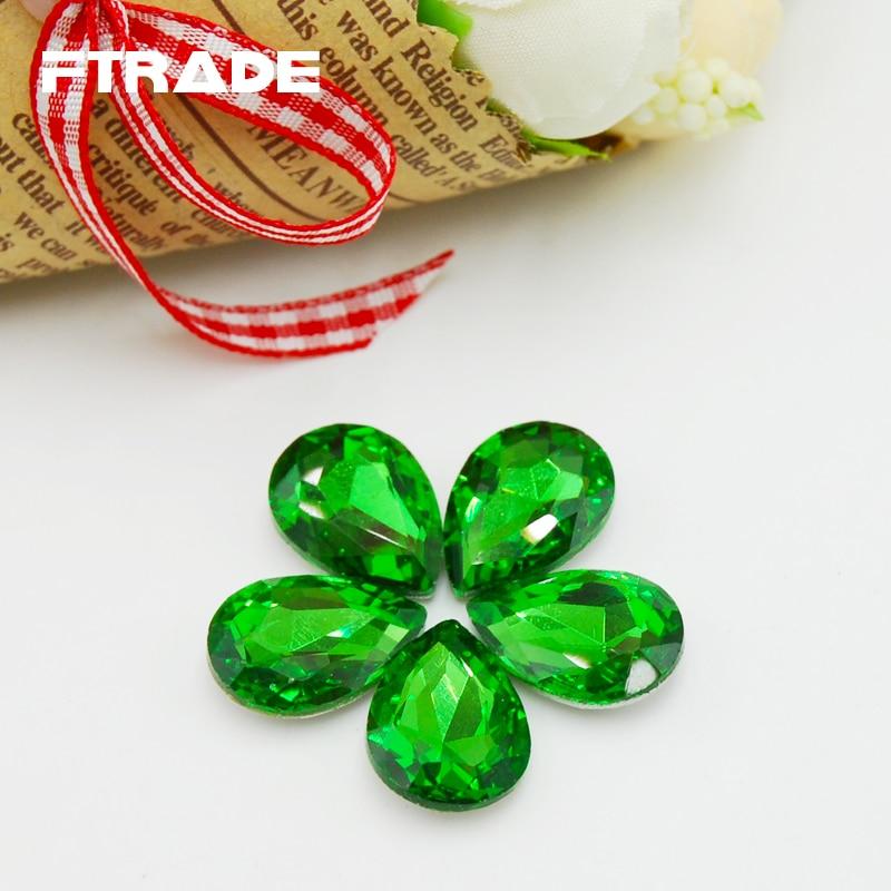 New Emerald Color Teardrop Shape Fancy Stone Point Back Strass Glass  Crystal 4x6mm 6x8mm 10x14mm 13x18mm 18x25mm 20x30mm-in Rhinestones from  Home   Garden ... 05b2dbf99701