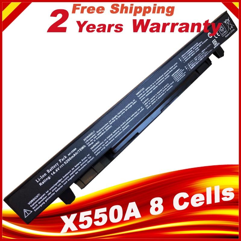 5200mAh Laptop Battery for ASUS A41-X550 A41-X550A A450 A550 F450 F550 F552 K550 P450 P550 R409 X450 X550 X550C X550A X550CA 2600mah 14 4v laptop battery for asus a41 x550 a41 x550a x450 x550 x550c x550b x550v x550d x450c x550ca 4cell szxx