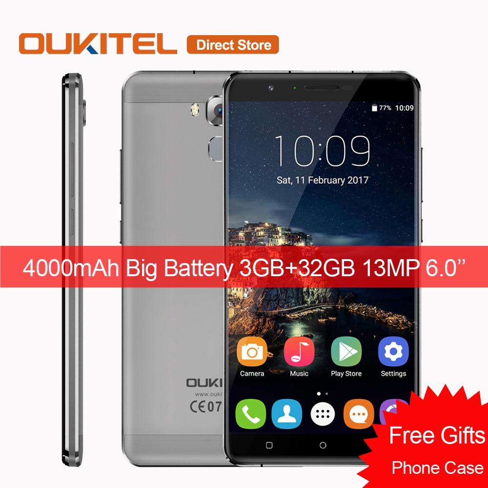 bilder für OUKITEL U16 Max 4G LTE Smartphone MTK6753 Octa-core 6,0 zoll Handy Android 7.0 3 GB + 32 GB 13MP Fingerprint ID Mobile telefon