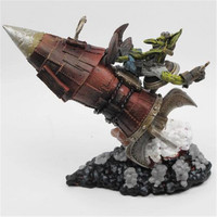 17cm Wow Action Figure DC Unlimited Series 6 Gibzz Sparklighter Goblin Tinker WOW PVC Model Toy