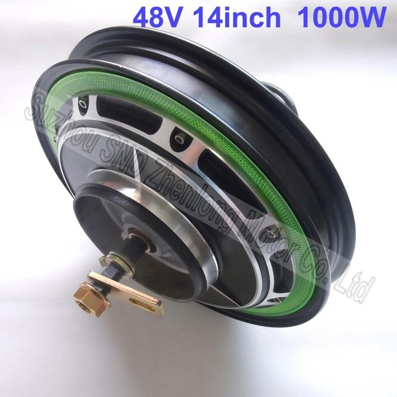 Buy 14 brushless hub motor 48v 1000w drum for 1000w brushless dc motor