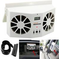 Fan Car Solar Powered Car Window Air Vent Ventilator Mini Air Conditioner Cool NEW Jul16