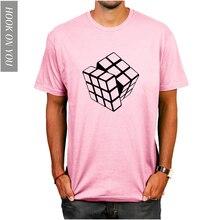 2018 de los hombres de verano Camisetas de la teoría del Big Bang impreso  diseño elegante Cubo de Rubik T Shirts Casual de algod. 11be722e243