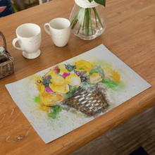 Flower Tower Pattern Table Mat Rose Napkin Placemat Kitchen Decoration Dining Accessories Place Mats