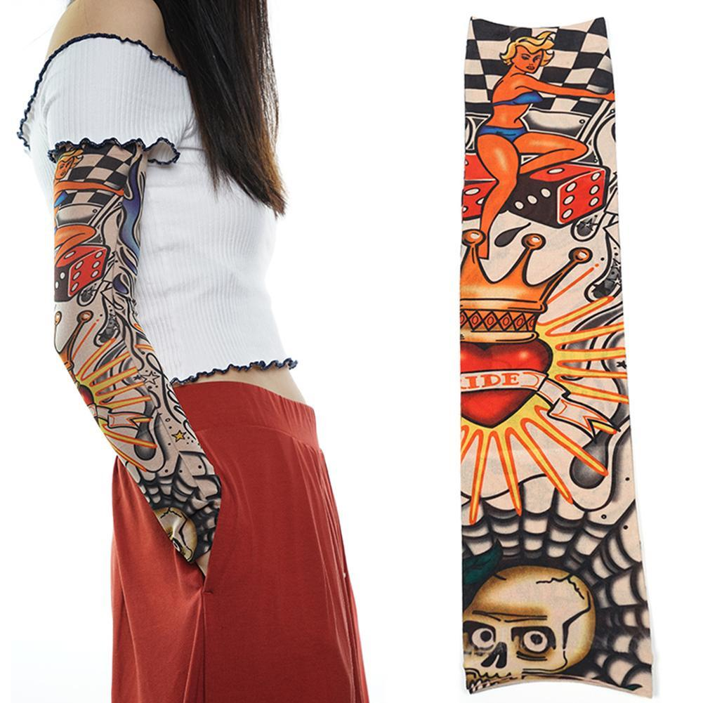Drop Shipping Nylon Stretchy Male Femle Sleeve Skin Protective Arm Design Body Stockings Tatoos For Tattoo Arm Warmer