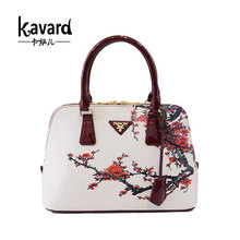 Small Mini Beach Shell Floral 2016 flower bag female luxury print women PU leather handbags famous