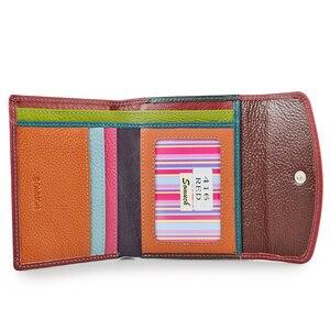 Image 4 - Beth Cat новый короткий женский кошелек из натуральной кожи, Модный женский маленький кошелек, женская сумка для денег, мини держатель для карт, кошельки с монетницей