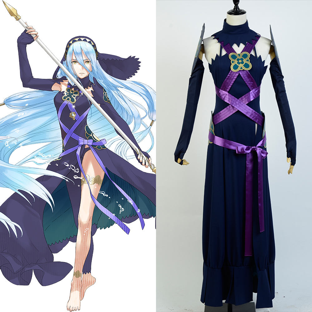 Fire Emblem IF Fates Aqua Conquest Diva Night Dress Cosplay Costume Female And Girls For Halloween Christmas Suit