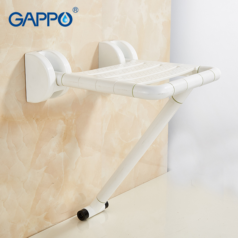 GAPPO Wall Mounted Shower Seat folding bench for elderly toilet folding shower chairs Bath shower Stool