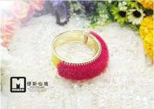 Мех Ювелирные Изделия Реального Норки Помпонами Кольцо(China (Mainland))