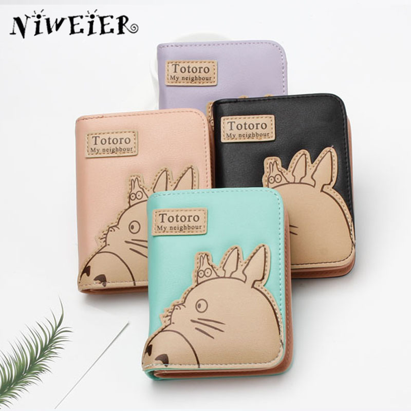 Short Long Totoro Women's Purse High Quality Cute Cartoon Wallet Handy Bags For Teenagers Girls Female Ladies Clutch Money Bag