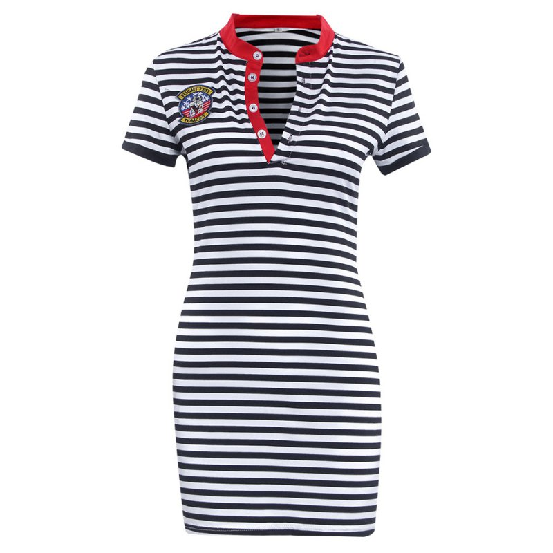 oioninos Striped Casual Bodycon Summer Dress Women Clothes
