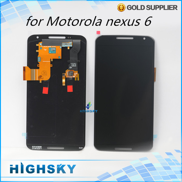 5 pcs/lot DHL EMS free shipping replacement parts display for Motorola nexus 6 XT1100 XT1103 lcd with touch digitizer