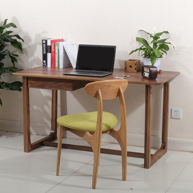 Einfache Europäischen Nussbaum Weiß Eiche Schreibtisch Computer Zu