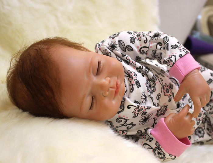20 inch real baby dolls reborn for sale Soft silicone Vinyl  Reborn Babies For Girls dolls gift bebe toys boneca reborn