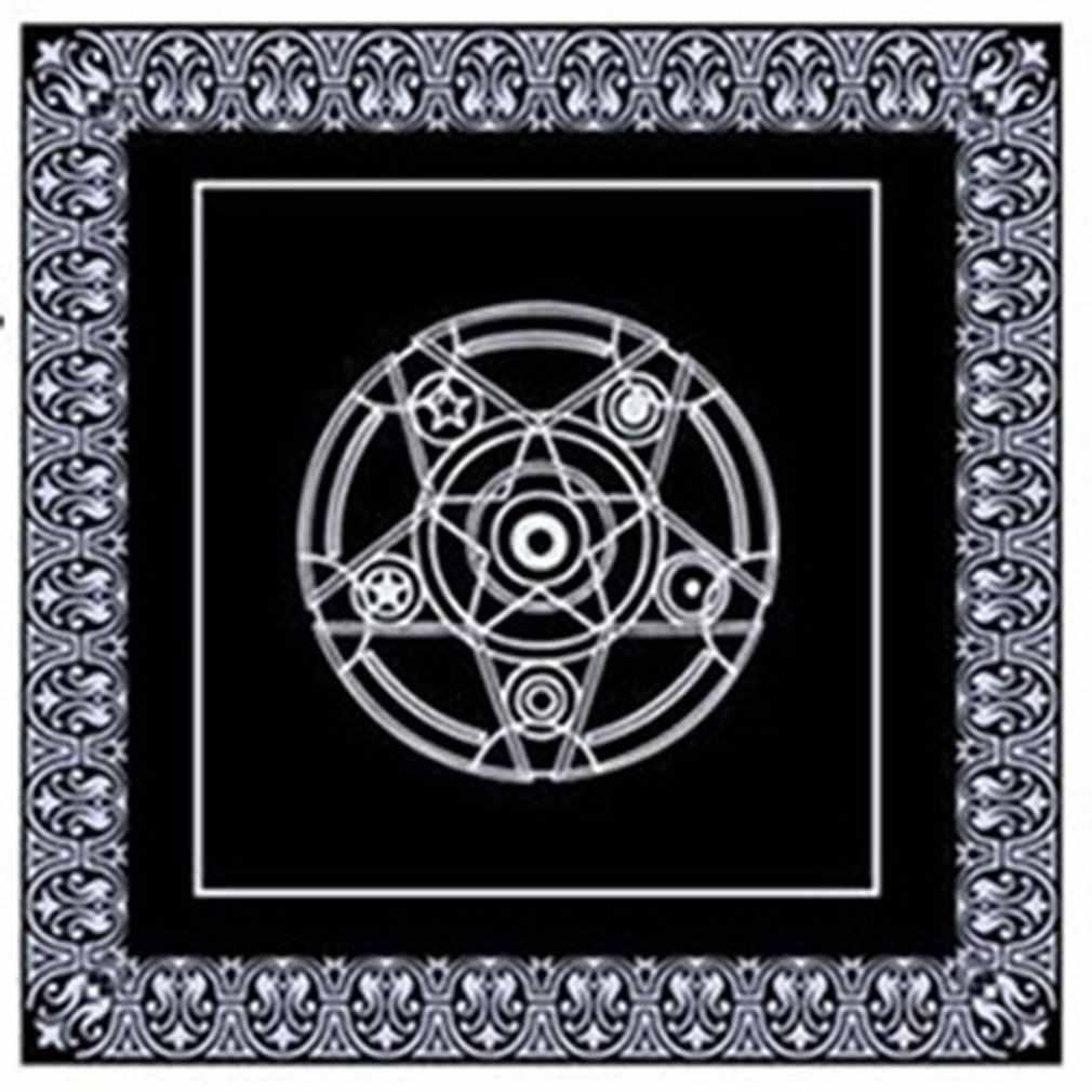 No tejido juego de mesa Textiles Tarot mesa cubierta juego de cartas pentagrama Tarot juego Textiles mantel