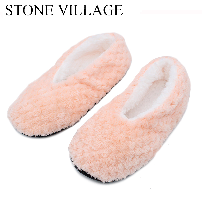 STONE VILLAGE 2017 New Warm Flats Soft Sole Women Indoor Floor Slippers/Shoes Plush Socks Home Slippers Comfortable Indoor Shoes vanled 2017 new fashion spring summer autumn 5 colors home plush slippers women indoor floor flat shoes free shipping
