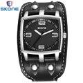 SKONE Mens Relógios Top Marca de Luxo de Couro Strap Esporte Relógios para Homens De Quartzo relógios de Pulso À Prova D' Água 3ATM Relogio masculino
