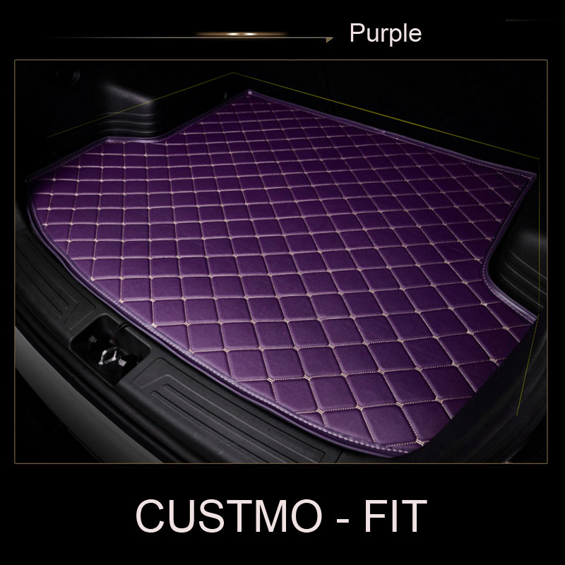 Car trunk mat for Tesla Model S Model X fit Jaguar F-PACE F-TYPE XF XJ XE XFL for Alfa Romeo Stelvio Giulia car-styling carpet full covered durable carpets special car floor mats for jaguar xel xfl xe xf xj xjl f pace f type xk x type s type most models