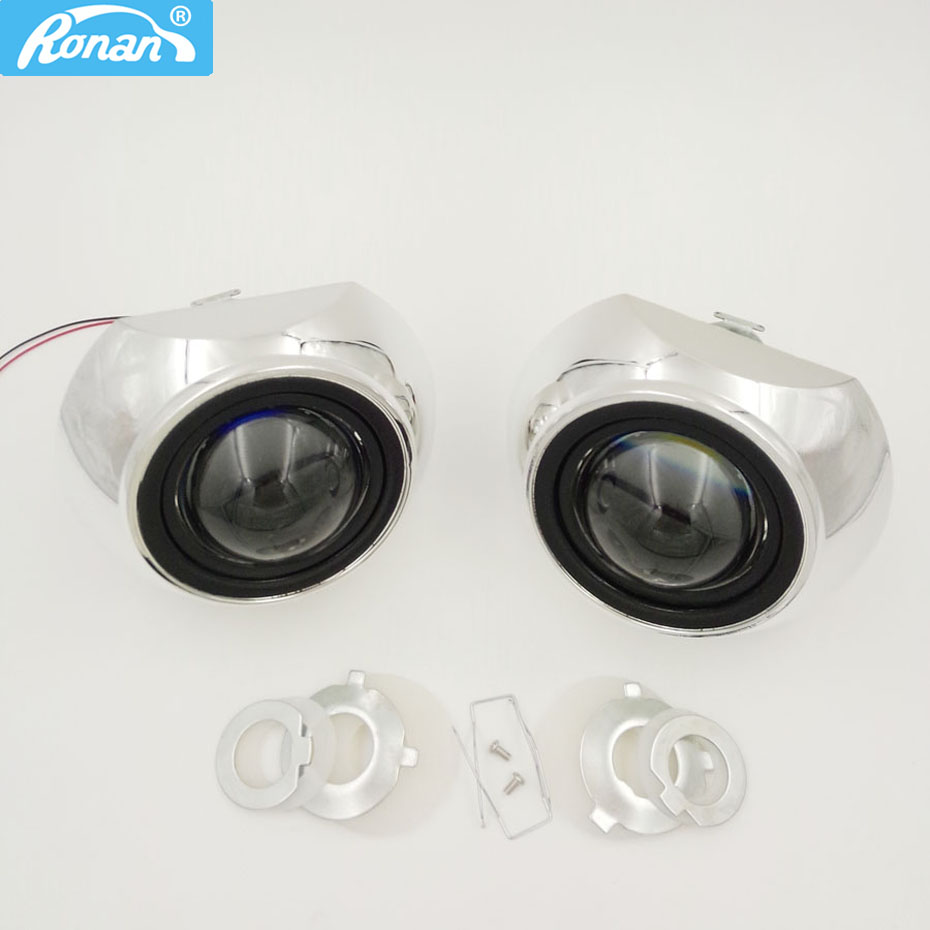 RONAN 2.5 pouces bi-xénon HID Projecteur Phares Lentille 8.1 7.1 8.0 iris haubans Adaptateur Anneau De Voiture Projecteur H1 h4 H7 Car styling