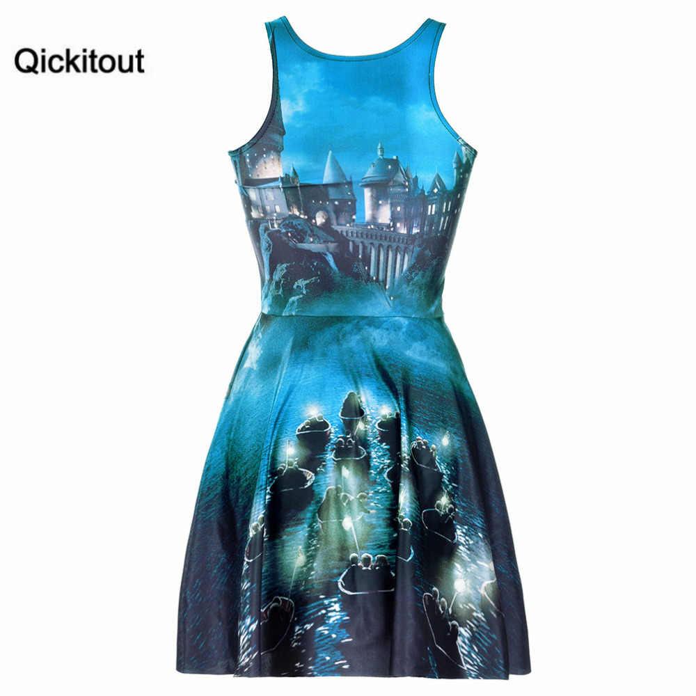 2e25676d9e ... Qickitout Dress Fashion Plus Size Women s Dark Haunted Castle Magic  Light Dresses Digital Print SKATER DRESS ...