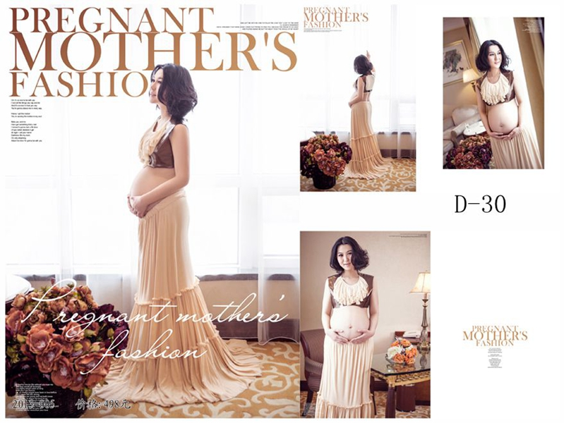 ФОТО New Maternity Photography Props clothing for pregnant women Long Dress Pregnancy Fashion set Princess Free shipping