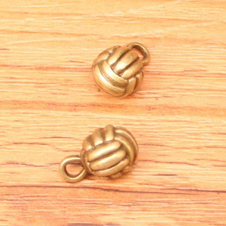 30 piezas mezcladas antiguas plata oro encantos 3D baloncesto voleibol fútbol, colgante de fabricación antigua ajuste DIY pulsera collar